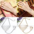 Fashion Womens  Fish Scale Squamous Finger Ring Punk Gothic Link Chain Bracelet