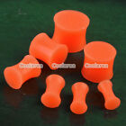 "6g-9/16"" Solid Silicone Double Flared Saddle Ear Tunnel Plugs Expander Stretcher"