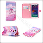 Pink Beach Magnetic Wallet Flip Book Holder Leather Pu Case Cover For Celephones