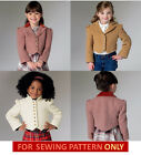 SEWING PATTERN! MAKE GIRLS FITTED JACKET! VOGUE SIZE 3-8! SCHOOL~DRESS CLOTHES!