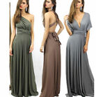 Multi-worn  Sexy Womens Ball Party Backless Cocktail Maxi Long Nightclub Dress