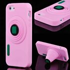 TPU Camera Stand Soft Rubber Silicone Case Skin Cover for Apple iPhone 5 5G 5S