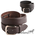 "Milano Mens 1.5"" (40mm) Leather Backed Security / Money Belt with Hidden Zip"