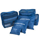 6 Pcs Set Clothes Laundry Storage Bags Packing Cube Travel Luggage Organizer Bag