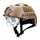 Hot Military Tactics Airsoft Paintball SWAT Protective Fast Helmet With Goggle