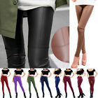 High Waisted Women's Casual  Faux Leather Stretch Skinny Pants Leggings Jeggings