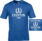 EVERTON  no 1 fan T SHIRT Childrens kids PERSONALISED FREE ages 3 to13