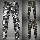 Mens Boys Korean Fashion Pants Casual Slim Fit Camouflage Pants Trousers Hot