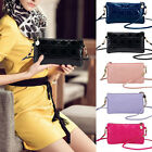 Women Ladies Zipper Purse Wallet Leather Coin Name Card Clutch Long Hand Bag AS