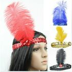 1/10 Colors Flapper Sequin Feather Hairband Fancy Costume Headband Headpiece J87