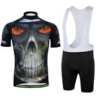 CC2009-2 Cycling Bike Bicycle Short Sleeve Set Men 3D Pattern Jersey +Bib Shorts