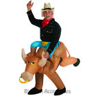 CL53 Inflatable Bull Rider Cowboy Mens Fancy Dress Halloween Adult Costume