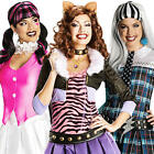 Monster High School Ladies Fancy Dress Halloween Character Womens Costume Outfit