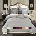 Checkered Style Soft and Plush Coverlet 2-3PC Set Bedspread Extra Soft Bed Cover image