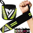 RDX Wrist Weight Lifting Training Gym Straps Support Grip Glove Body Building AU