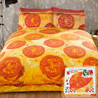 Fun Novelty Gift Idea! Pizza Bedding Set - Hot Food Photo Print Duvet Cover