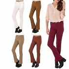 Womens Casual Stretch Flared Stretch Bodycon 70s Elastic Denim Trousers Jeans
