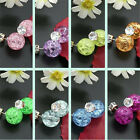 1 Pair Cute Candy Colorful Round Pearl Earings Resin Crystal Ball Ear Studs HUK