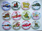 WACKY RACES ROUND FRIDGE MAGNETS - RETRO COOL!   12 different to choose from!