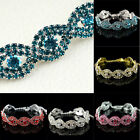 Elegant Lady Luxury Austrian Crystal Infinity Rhinestone Bangle Bracelet Gift
