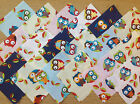 OWLS ~ COTTON FABRIC PATCHWORK SQUARES PIECES CHARM PACK CRAFT 2 4 5 INCH