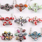 10PCS Lampwork Floral Ceramic Glass Loose Spacer Beads Charms Jewelry 15x10mm