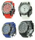 Croton Men's Eraganto Quartz Rubber Strap Watch 4 Color