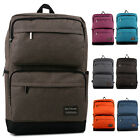 Womens Men Fashion Canvas Satchel Travel School Bag Backpack Rucksack Bookbag