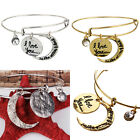 I Love You to the Moon And Back Expandable Bangle Bracelet Women's Retro Jewelry