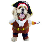 Pet Dog Cat Pirate Clothes Halloween Gift Dress Costume Suit Outfit Apparel S-XL