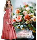 CHELSEA Coral Taffeta Beaded Maxi Bridesmaid Ballgown Prom Dress UK Sizes 6 -18