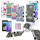 For Samsung Galaxy Note 5 Hybrid Rubber Hard Case Armor Cover w/Stand+Pen+Film