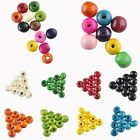 New Wholesale 3.5mm-16 mm Round Wood Spacer Loose Beads Charms Jewelry Making