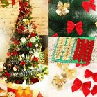 24x Bow Christmas Tree Decoration Xmas Hanging Ornament Bowknot Party Home Decor