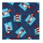 By the YARD Dr. Seuss THE CAT IN THE HAT 2 Navy ADE-13981-9 Fabric Kaufman