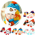 2Pcs/Set Cute Kids Baby Boy Girl Winter warm bear Cap Hat+Scarf Wrap