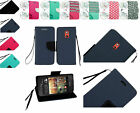 PU Leather Wallet Pouch Case Cover w/Strap For HTC Desire 612 Phone