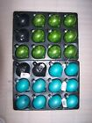 10 Premier Luxury 80mm Glass Pearlised Shiny Onion baubles Teal or Apple Green