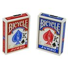 Bicycle Cards Poker Taille Jumbo Index - Choix Parmi Couleurs