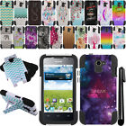 For Huawei Premia 4G M931 KICKSTAND HYBRID HARD Silicone Case Cover +Pen