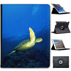 Freshwater Sea Swimming Turtles Folio Cover Leather Case For Apple iPad