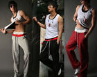 Mens Casual Jogger Jogging Sport Pockets Baggy Loose Gym Harem Trousers Pants