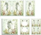 SEAHORSE LIGHT SWITCH COVER PLATE # 5    U PICK  SIZE SIZE OR STYLE