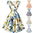 FREE P&P Retro Vintage Style 50's Dress Swing Prom Party Floral Dress