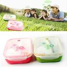 Portable Bento Lunch Box Utensils Case 4 Food Storage Containers Microwave Box