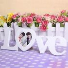 Durable Love Wooden Wedding Photo Picture Frame Rahmen DIY Home Decor