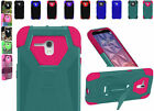 2Layer Tough Case Cover w/T-Stand For Alcatel OneTouch Fierce XL 5054 5054N