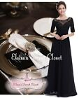 ASTRA Black Lace Beaded Embellished Prom Evening Party Ballgown Dress UK 6 - 18