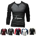 NEW Men's Fashion Casual Slim Fit Crew-Neck Long Sleeve Tops Tee T-shirt M-2XL