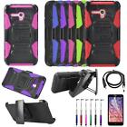 Phone Case For Alcatel Onetouch Fiece XL Holster Cover USB Charger Film Stylus